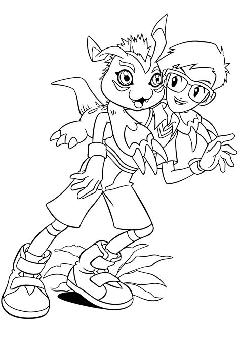 coloring page digimon coloring pages 102