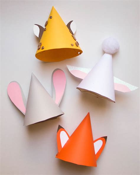 How To Make Paper Cone Hats - zootopia hats disney family