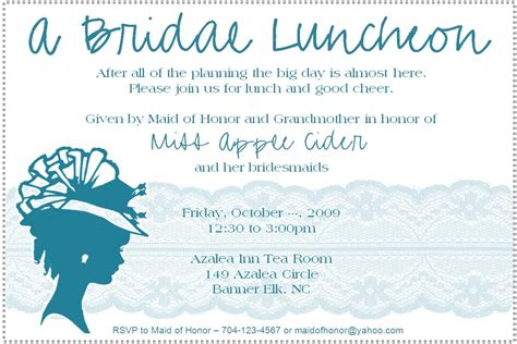 Wedding Lunch by Bridal Luncheon Invitation Weddingbee