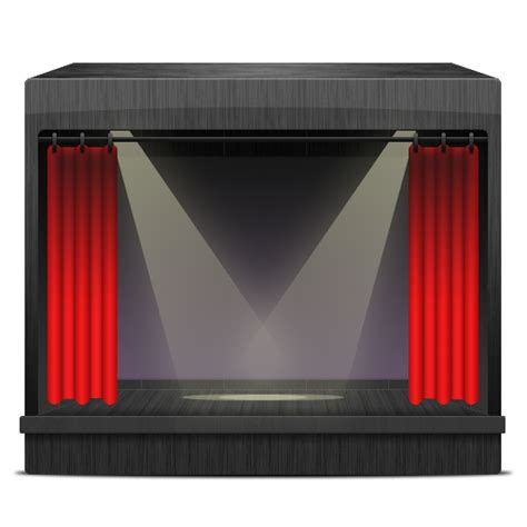tv curtains theatrespotlights icon free download as png and ico