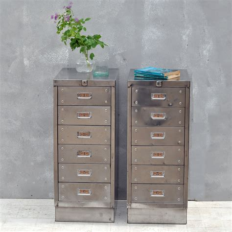 Drawer Filing Cabinet Vintage Industrial Steel Filing Cabinet 6 Drawer
