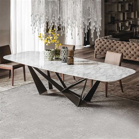 tavolo e sedie soggiorno tavolo da soggiorno con piano in calacatta skorpio