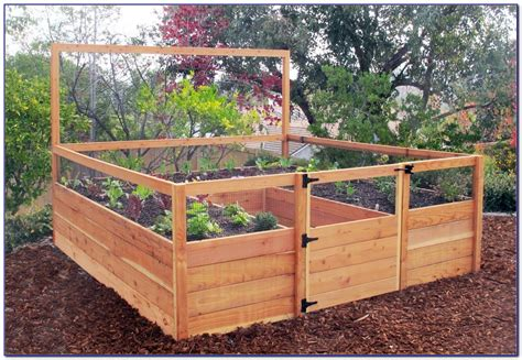 Wooden Raised Garden Bed Kits by Raised Bed Garden Kits Cedar Page Home Design