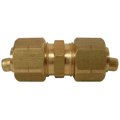 Sioux Plumbing by Sioux Chief 3 8 In Brass Compression X Compression Unions 5 Pack 907 121005 The Home Depot