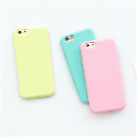 8 For Iphone 6 6 S coque iphone macaron en silicone pour l iphone 6 6 s 5 5s