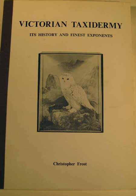 the taxidermist books taxidermy books