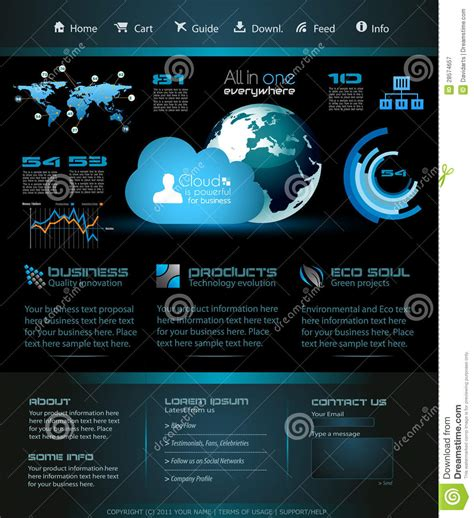 Modern Web Template For Blogs Stock Illustration Image 28574657 Contemporary Website Templates