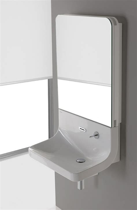 bathroom sink with mirror minimalist sleek mirror combo for your bathroom blend by