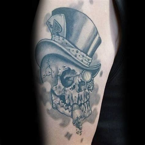 skull with tophat tattoo 30 skull with top hat designs for manly ink ideas