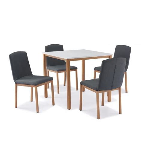 table et chaise but table carr 201 e 4 chaises scandinave achat vente table