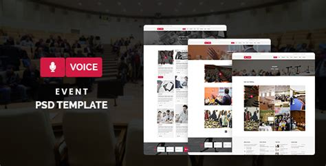 themeforest voice voice event psd template by themes hub themeforest