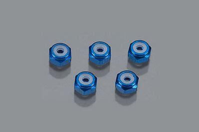Blue Mini4wd aluminum locknut blue 5 tam94748 tamiya mini 4wd