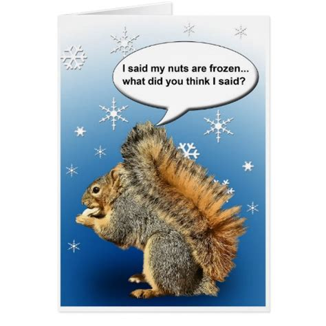 printable birthday cards with squirrels cold squirrel greeting cards zazzle