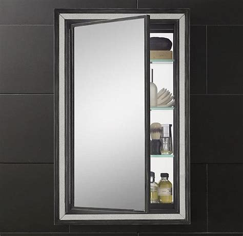 Black Mirrored Bathroom Cabinet Black Border Strand Mirrored Medicine Cabinet