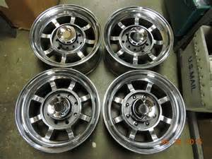 16 5 Lug Chevy Truck Wheels Polished Set 16 5 Quot 8 Lug Western Bullet Wheels Truck Mags