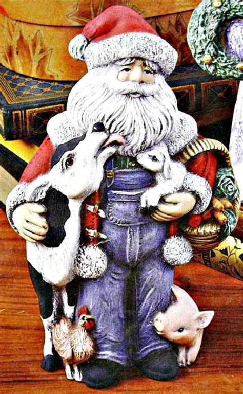 ceramic bisque santa ceramic bisque quot farmer quot santa w ith animals