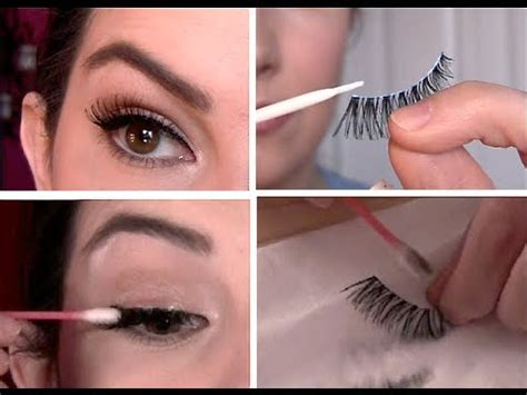 false eyelashes  select apply remove clean youtube
