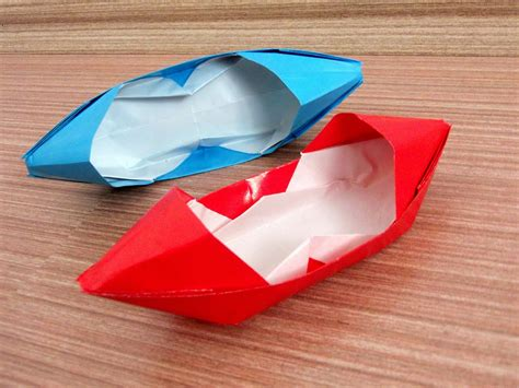 How To Make Paper Motor Boat - how to make a motor boat origami paper motor boat