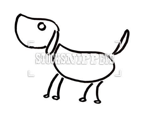 line dogs simple line drawings www imgkid the image kid has it