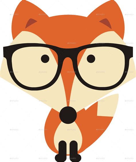 with glasses fox with glasses by banyaisandor graphicriver