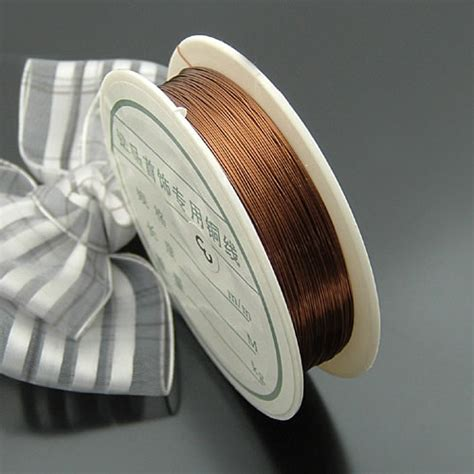 Wholesale Lot Soft Copper Wire Wire Line For Diy Jewelry 0 2 0 1 roll 0 3mm 0 4mm copper wire metal wire jewelry findings