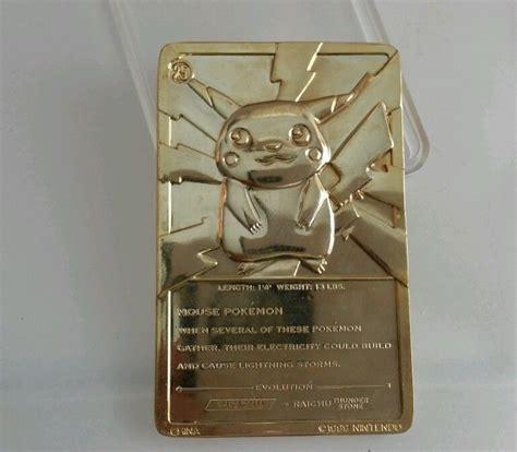 Asli Kailijumei Gold Limited Edition Promo pikachu gold card inside limited edition promo 99 nintendo ebay