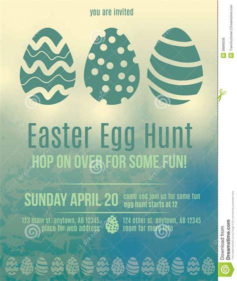 Easter Egg Hunt Invitation Flyer Stock Vector   Image