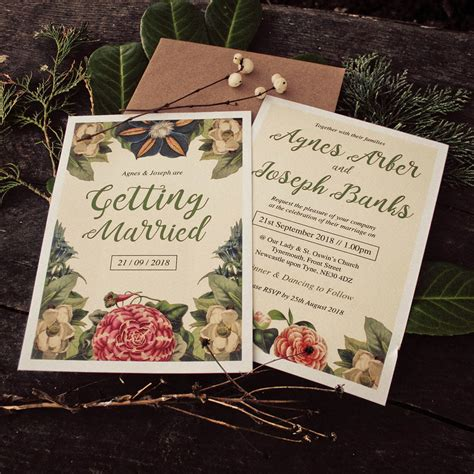 Themed Wedding Invitations by Botanical Floral Themed Wedding Invitations By Magik
