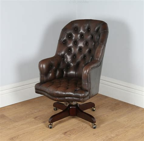 Leather Office Armchair by Antiques Atlas Georgian Style Leather Office Armchair