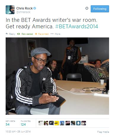 Chris Rock No In The Chagne Room by Stick 2 The Script Chris Rock In The 2014 Bet Awards