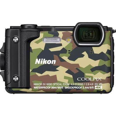 nikon waterproof nikon coolpix w300 camo waterproof compact cameras