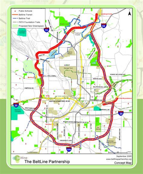 atlanta beltline map walking 19 of the atlanta beltline the city dweller