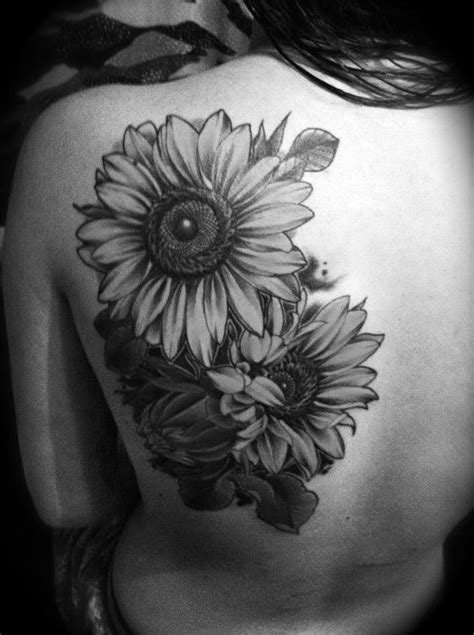black and white sunflower tattoo designs back sunflower design of tattoosdesign of tattoos