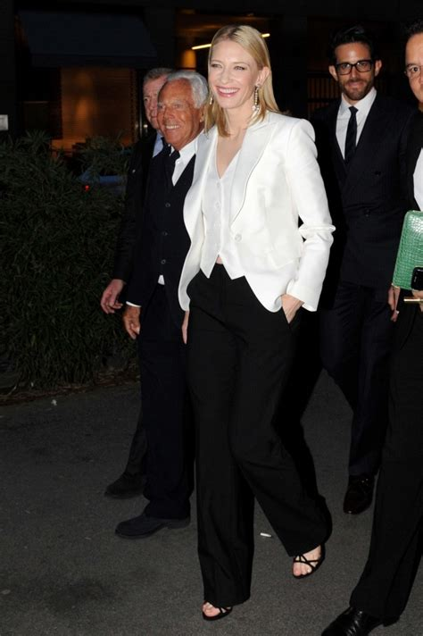 Giorgio Armani And Cate Blanchett Attend Armani Ginza Towers Light Up Ceremony by Cate Blanchett And Giorgio Armani Photos Photos Zimbio