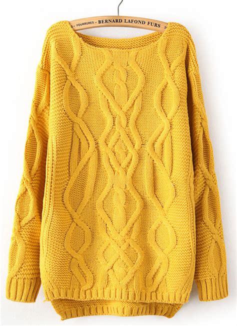 yellow knit sweater yellow sweatshirt shop for yellow sweatshirt on wheretoget