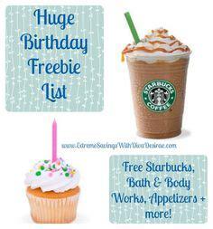 mamacheaps birthday freebies list of free stuff