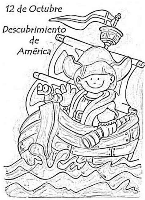 imagenes para colorear sobre el 12 de octubre colorear descubrimiento de america