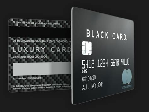 black card luxury card made of stainless steel
