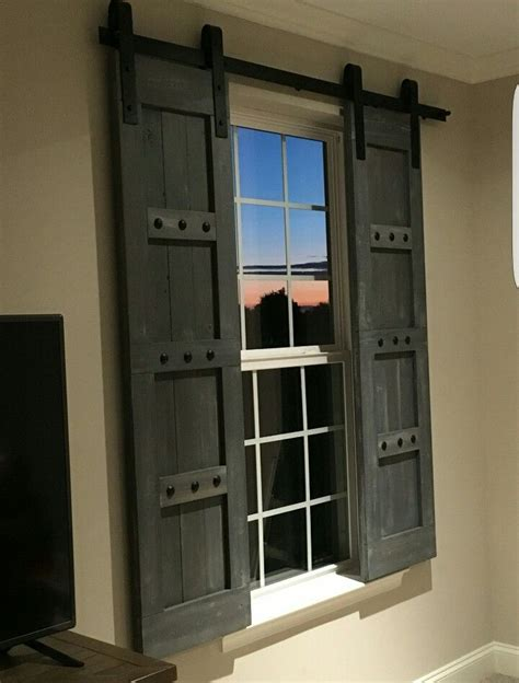 deco interior door hardware rustic wooden shutters barn window treatments