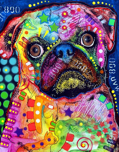 big eyed pug big eyed pug painting by dean russo