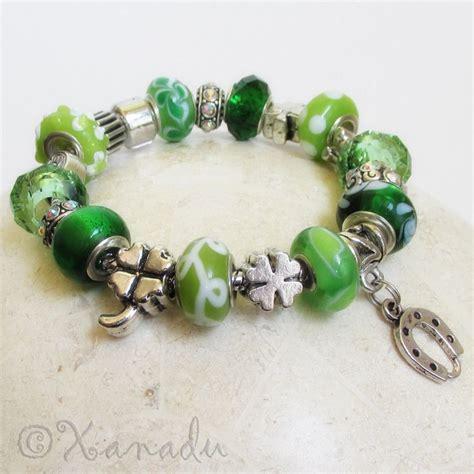 green lucky charms european charm bracelet w four leaf