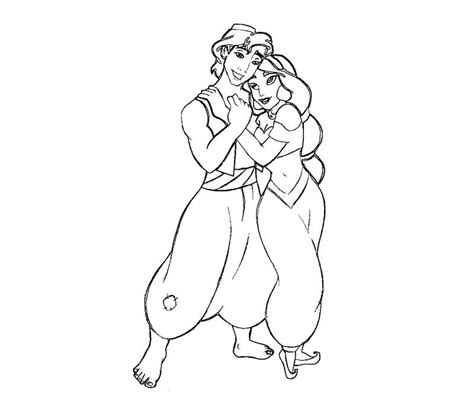 aladdin and jasmine coloring pages coloring home