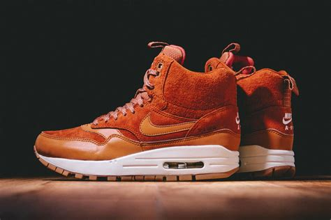 air max sneaker boots nike wmns air max 1 mid sneakerboot caramel brown