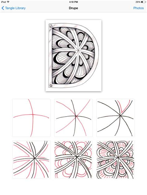 Zentangle Pattern Drupe | drupe how to draw drupe by jackie mann zentangle for
