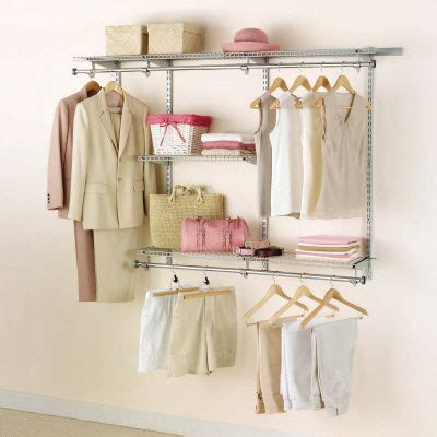 3ft Closet Organizer Rubbermaid 3ft To 6ft Configurations Custom Closet Kit