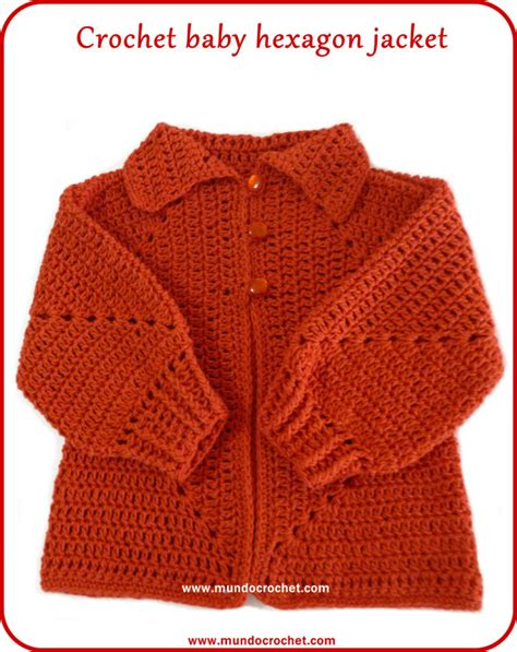 Jaket Sweater Pria Pin 379 crochet baby hexagon jacket with no holes free pattern