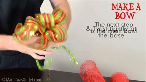 youtube how to make a silver xmas bow decor a bow with deco mesh