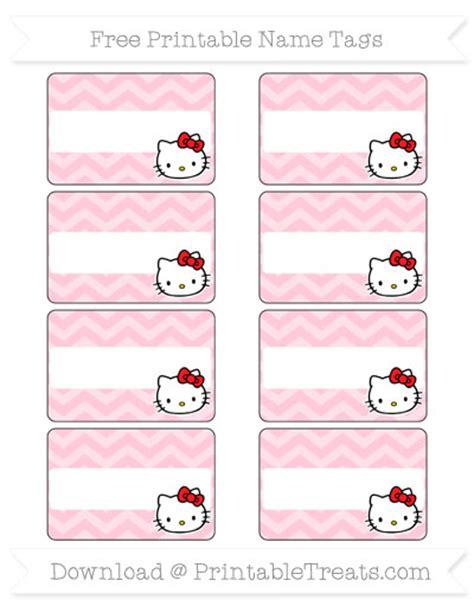 printable hello kitty tags free pink chevron hello kitty name tags printable treats com