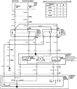 1997 hyundai sonata me the wiring diagram for the electric sunroof