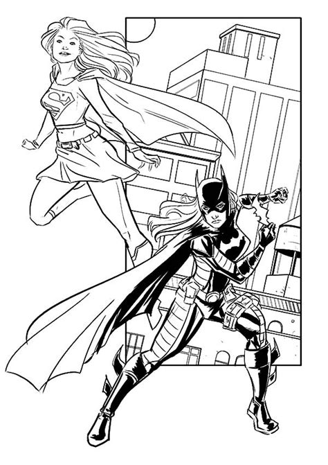 supergirl batgirl coloring pages printable supergirl coloring pages coloring home